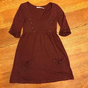 Kimchi Blue - Maroon Dress w Buttons